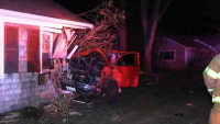 Pickup Truck Crashes Through Wall of Bedroom in Falmouth House