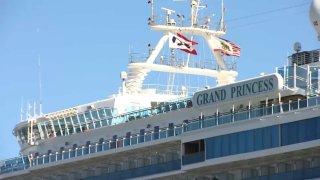 Grand Princess cruise ship in San Francisco