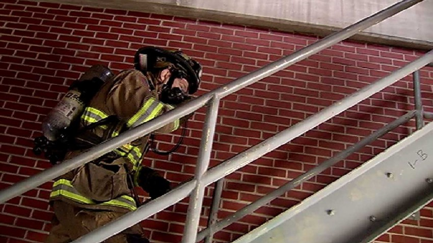 030416 stair climb challenge firefighter