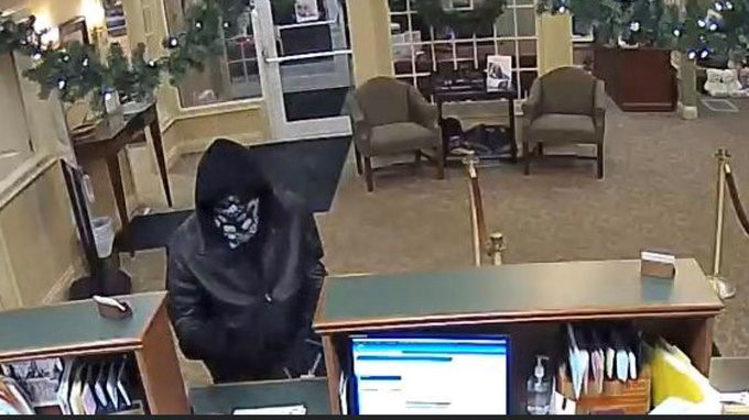 Police in Leicester, Massachusetts are searching for a thief who robbed a Cornerstone Bank on Thursday, Dec. 12, 2019.