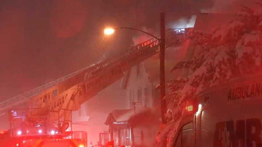 One person was killed overnight Tuesday, Dec. 3, 2019 following a fatal house fire in Springfield, Massachusetts.