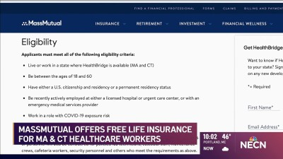 Free Life Insurance For Ma Ct Healthcare Workers Necn