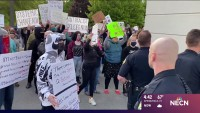 Night of Protest and Vandalism in Maine