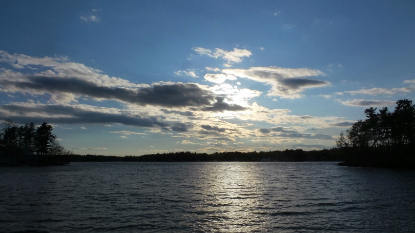 [UGCNECN-CJ]Sunset over lake mascuppic dracut by bob demers