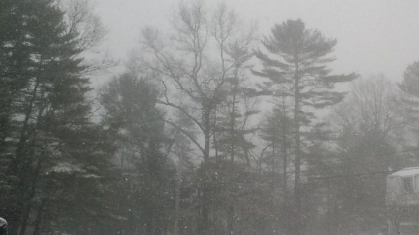 [UGCNECN-CJ-storm/weather damage photos]Near white out conditions Richmond Rhode island