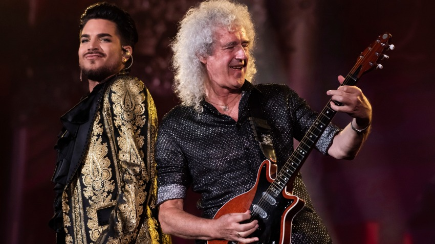 Adam Lambert, left, and Brian May from the band Queen perform at the 2019 Global Citizen Festival in Central Park on Saturday, Sept. 28, 2019, in New York.