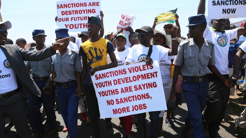 Zimbabwe Anti Sanctions Demonstration