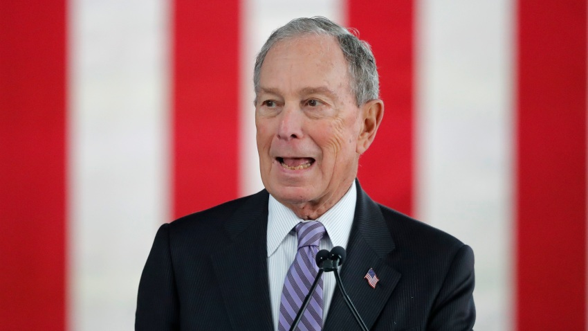 Democratic presidential candidate and former New York City Mayor Mike Bloomberg speaks at a campaign event in Raleigh, N.C., Thursday, Feb. 13, 2020.
