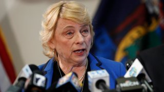 Gov. Janet Mills speaks during a new conference on the novel coronavirus, March 12, 2020, in Augusta, Maine.