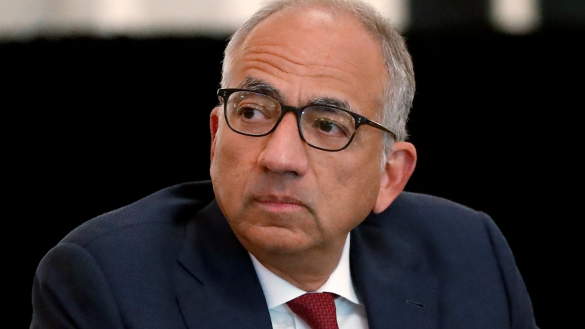 FILE - In this Dec. 6, 2019, file photo, U.S. Soccer President Carlos Cordeiro presides over a meeting of the U.S. Soccer Board of Directors in Chicago.