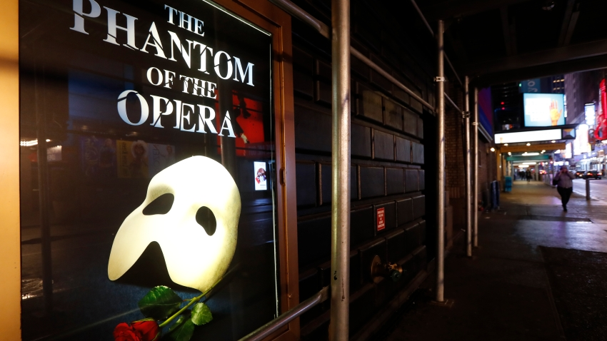 """A poster advertising """"The Phantom of the Opera"""""""