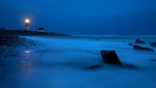 Point Judith Lighthouse in Narragansett