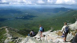 Maine Climbing Katahdin