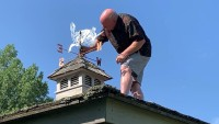 Following Theft, Memorial Weathervane Honoring Slain Vt. Teacher Is Replaced With Replica