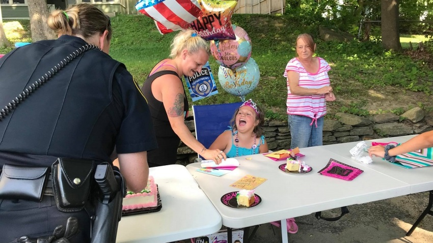 Augusta Maine PD birthday party