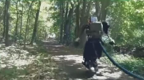 Boston Dynamics Atlas Robot outside