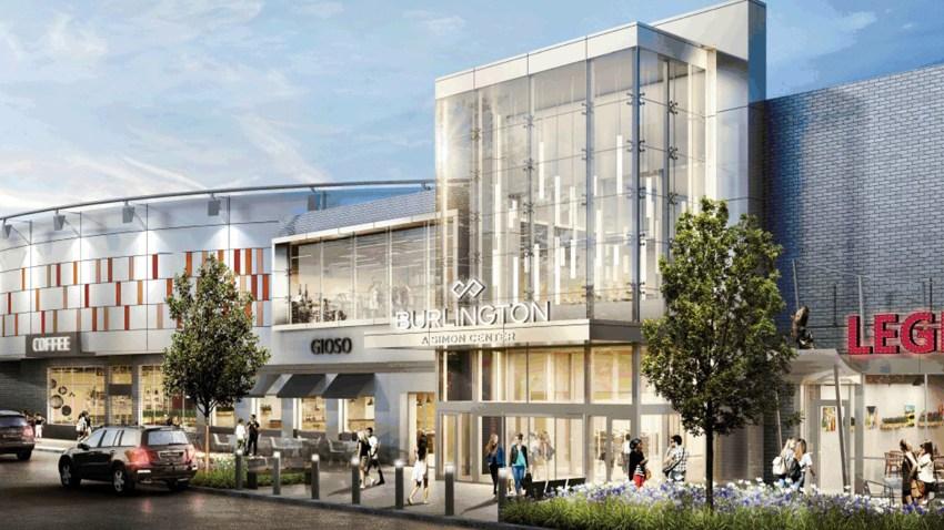 Burlington Mall - Exterior Transformation Rendering