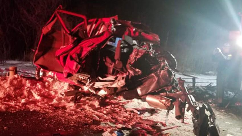 Charlestown NH amtrak vs pickup truck crash