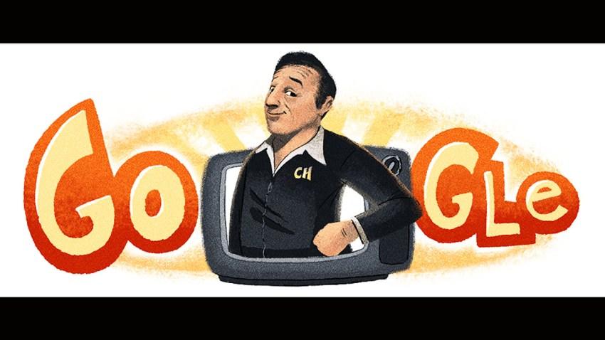 A Google Doodle of Mexican comedian Robert Gomez Bolaños