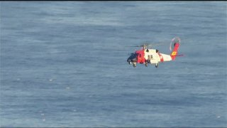 Coast Guard Helicopter Ocean Beach Search 0215 2016