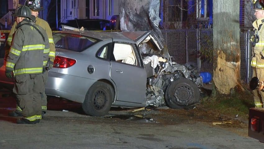 Cranston Car Chase Crash