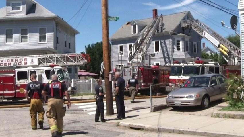 Denison Street fire Providence RI 062517