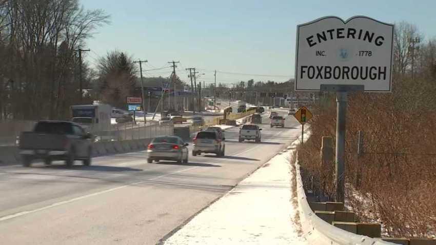 Entering Foxborough sign