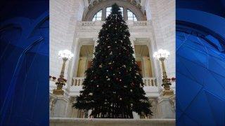 Fake Christmas Tree Rhode Island State House