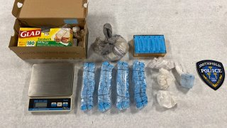 Drugs recovered during a series of raids in Massachusetts and Rhode Island