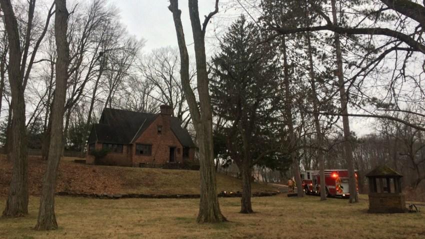 Fire on Boston Neck Road in Suffield