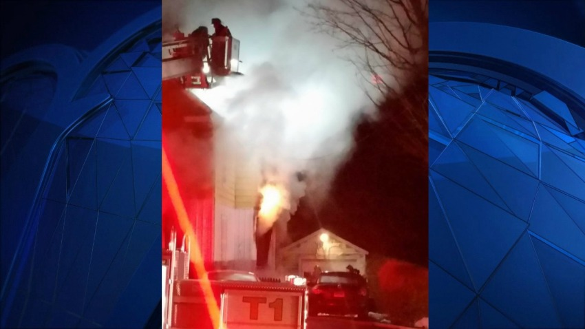 Fire on Huntington Road in Stratford