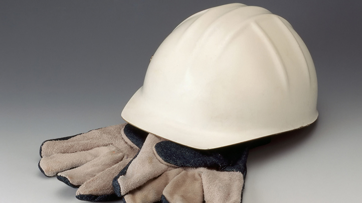 Generic Hard Hat and Gloves