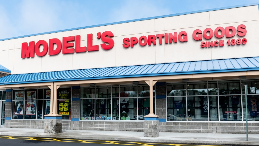 File photo- Modell's Sporting Goods store in North Brunswick Township, New Jersey.