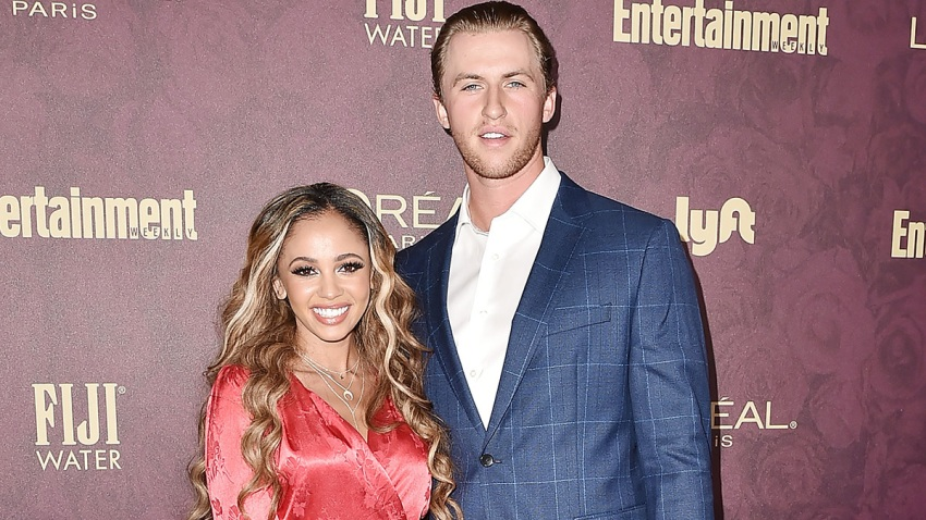 In this Sept. 15, 2018, file photo, Vanessa Morgan and Michael Kopech attend the Entertainment Weekly Pre-Emmy Party 2018 at Sunset Tower Hotel in West Hollywood, California.