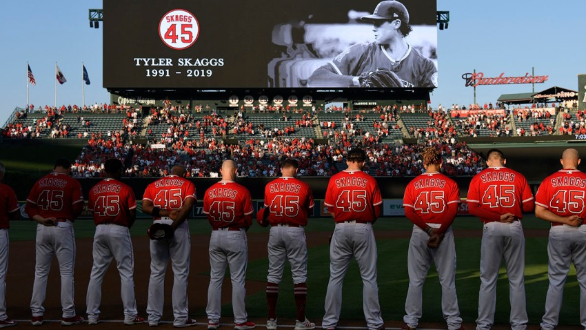 Los Angeles Angels Moment of Silence - Tyler Skaggs #45
