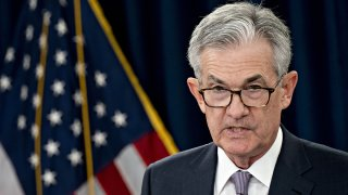 In this Sept. 18, 2019, file photo, Jerome Powell, chairman of the U.S. Federal Reserve, speaks during a news conference following a Federal Open Market Committee (FOMC) meeting in Washington, D.C.