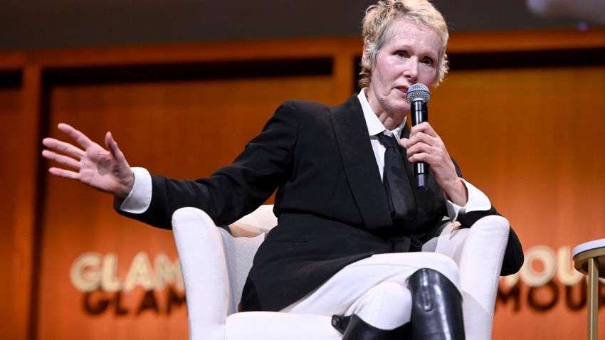 """Columnist E. Jean Carroll speaks onstage during the """"How to Write Your Own Life"""" panel at the 2019 Glamour Women of the Year Summit at Alice Tully Hall in New York City."""