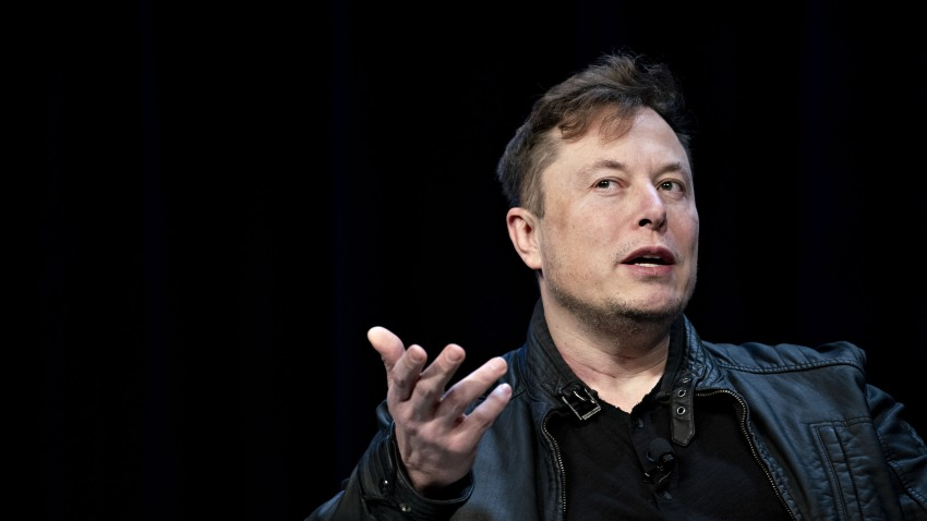 Elon Musk, founder of SpaceX and chief executive officer of Tesla Inc., speaks during a discussion at the Satellite 2020 Conference in Washington, D.C., U.S., on Monday, March 9, 2020.