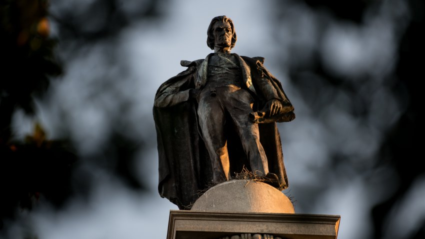 The John C. Calhoun Monument in Marion Square on June 18, 2020, in Charleston, South Carolina.