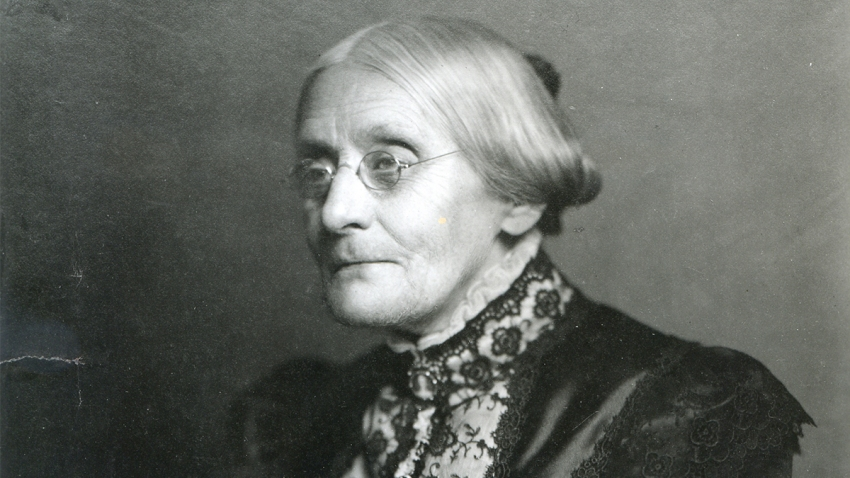 Women's Suffrage Leader, Susan B. Anthony (1820 - 1906), late nineteenth or early twentieth century.