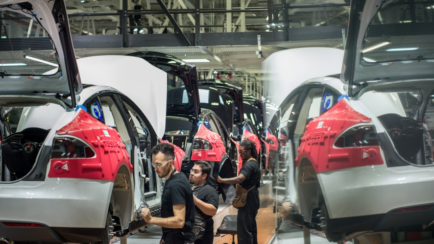 Tesla Car Factory Fremont, California