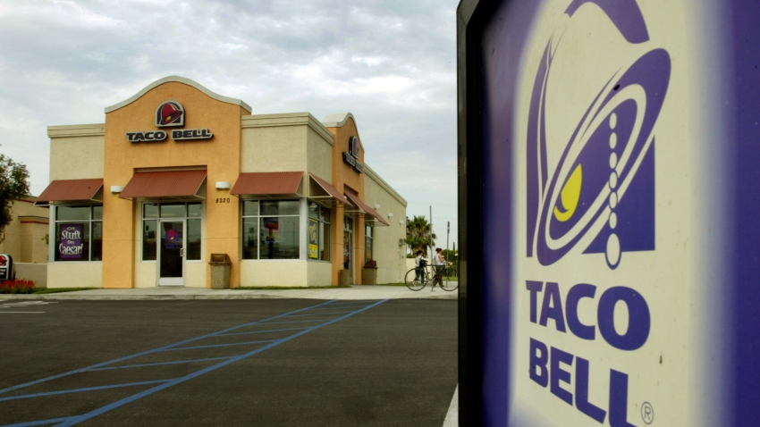 A Taco Bell restaurant in Canoga Park is pictured.