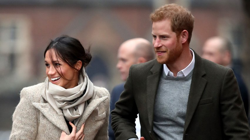 In this Jan. 9, 2018, file photo, Prince Harry and Meghan Markle visit Reprezent 107.3FM in London, England.