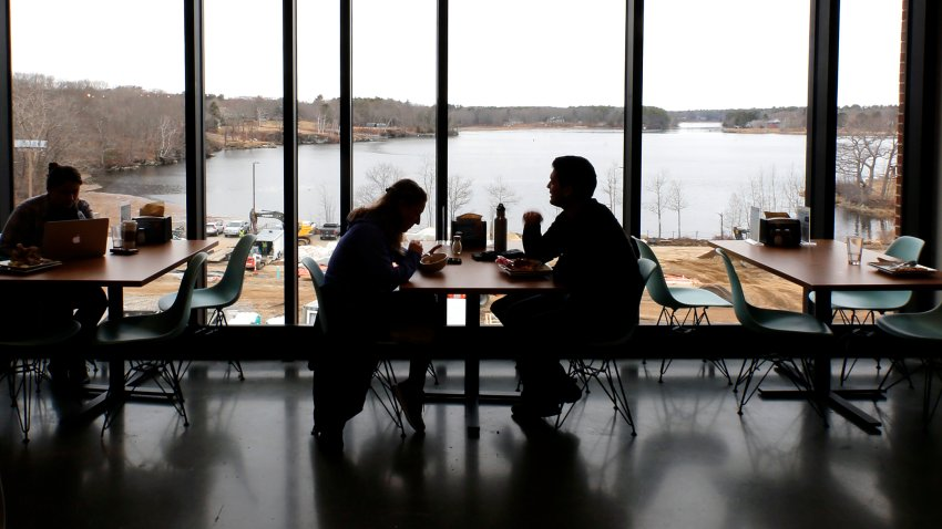 University of New England students dining