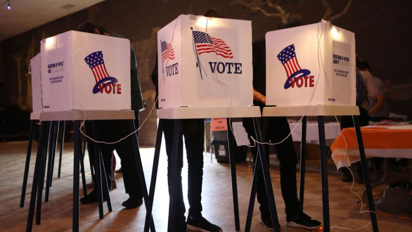 California residents cast their vote