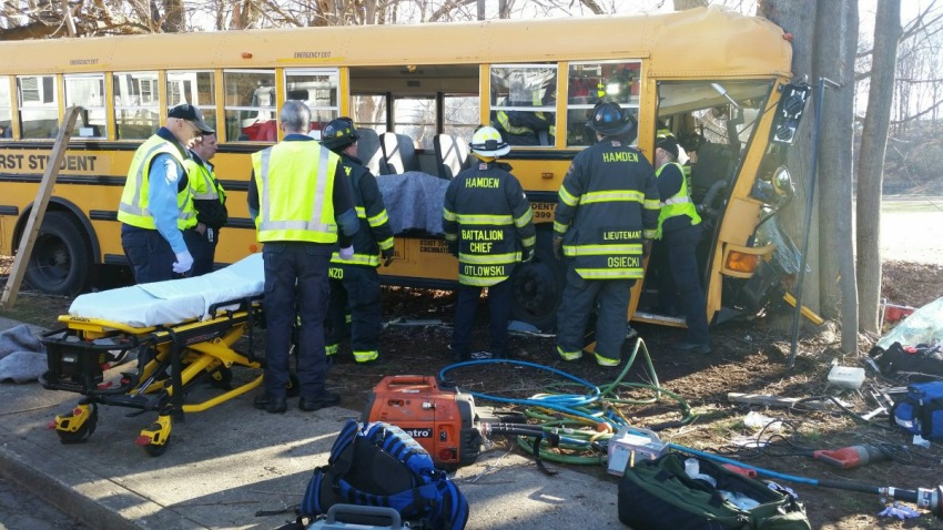 Hamden school bus crash