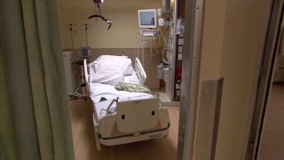 A file photo of a hospital bed