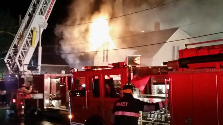 Keene NH 4 Alarm Fire