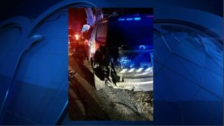 Lakeville police cruiser hit