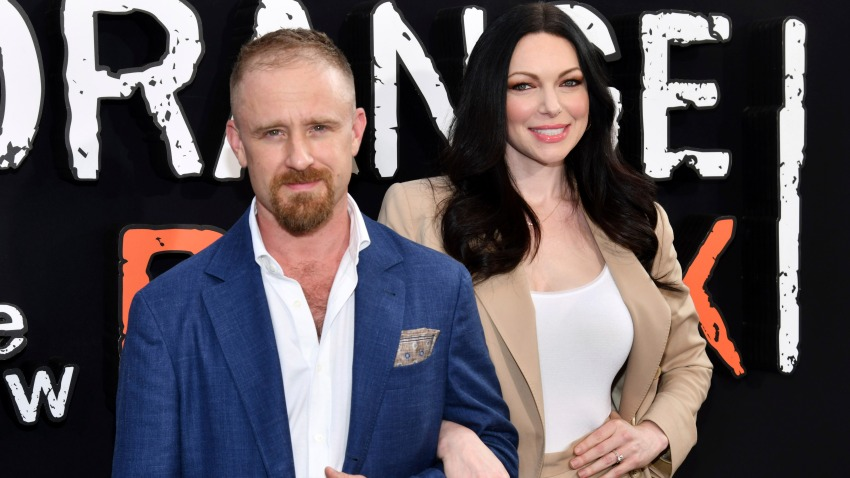 """In this file photo, Ben Foster and Laura Prepon attend the final season premiere of Netflix's """"Orange Is the New Black"""" at Alice Tully Hall on Thursday, July 25, 2019, in New York."""